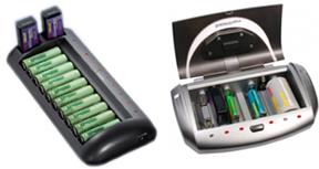 Oplader AAA AA C D 9Volt batterier