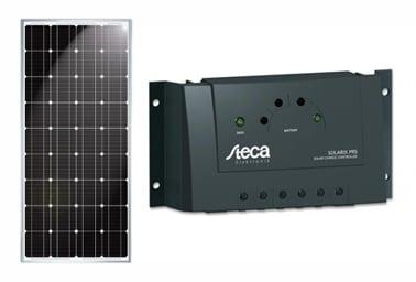 Solceller og ladestyringer (off-grid løsning)