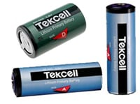 Cylindriske batterier Tekcell