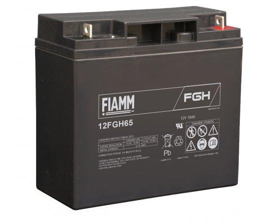 12V/18Ah FIAMM 5 års Højstrøm Blybatteri 12FGH65