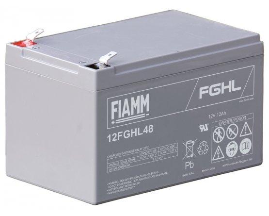12V/12Ah FIAMM 10 års Højstrøm Blybatteri 12FGHL48