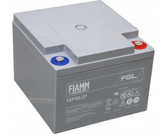12V/27Ah FIAMM 10 års Blybatteri 12FGL27