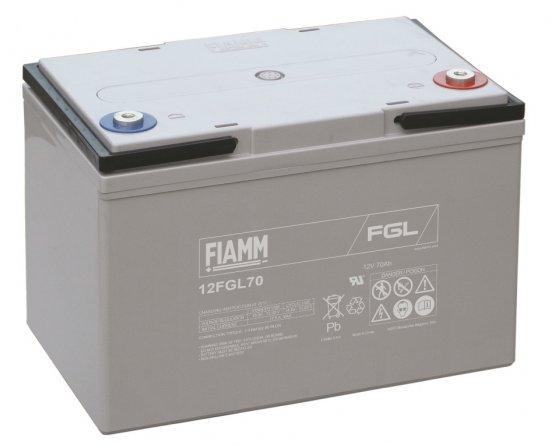 12V/70Ah FIAMM 10 års Blybatteri 12FGL70
