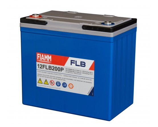 12V/55Ah FIAMM 12 års Blybatteri UPS 12FLB200
