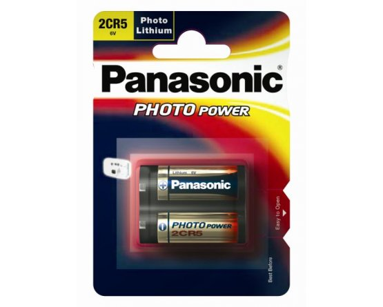 2CR5 Lithium 6V foto batteri Panasonic