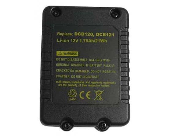 Dewalt DCD700 batteri DCB120 12v/1,5Ah Li-Ion