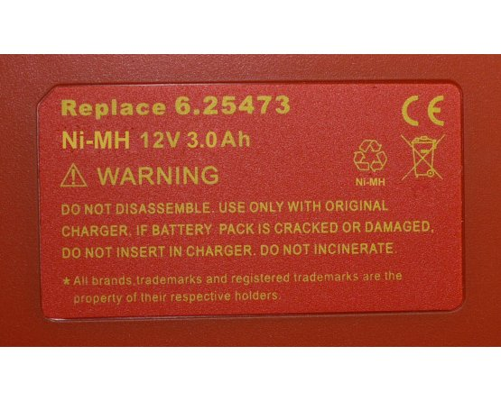 Metabo BS 12 SP batteri 6.25473 12v/3,0Ah NiMH