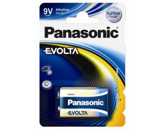 9Volt Panasonic Alkaline batteri Evolta