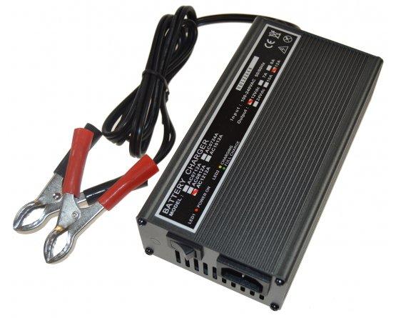 Oplader til blybatterier 2-trins 12V/7,0A