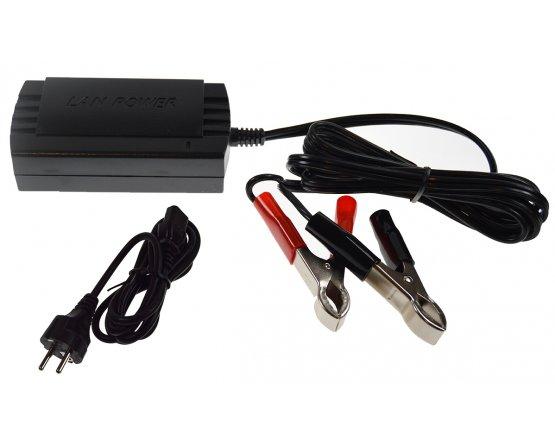 Oplader til blybatterier 2-trins 12V/0,8A
