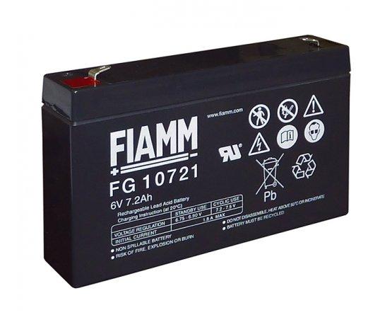 6V/7.2Ah FIAMM 5 års Blybatteri FG10721