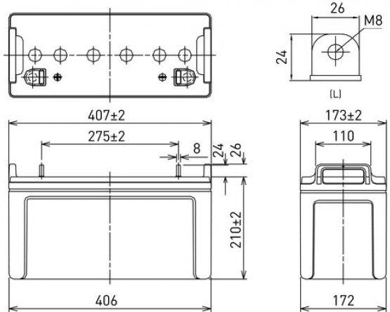 12V/120Ah Panasonic Blybatteri 10-12år LC-P12120P