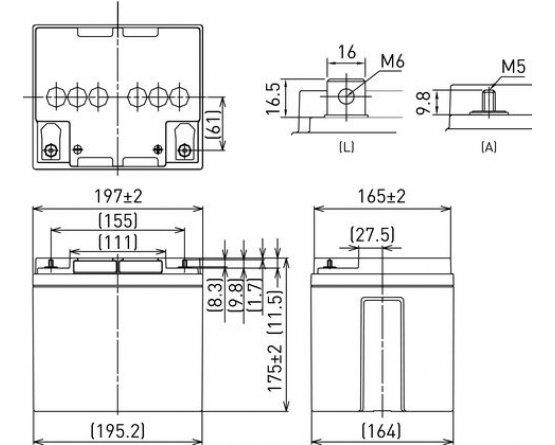 12V/42Ah Panasonic Blybatteri 10-12år LC-P1242AP