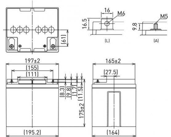 12V/38Ah Panasonic Blybatteri 10-12år LC-P1238AP