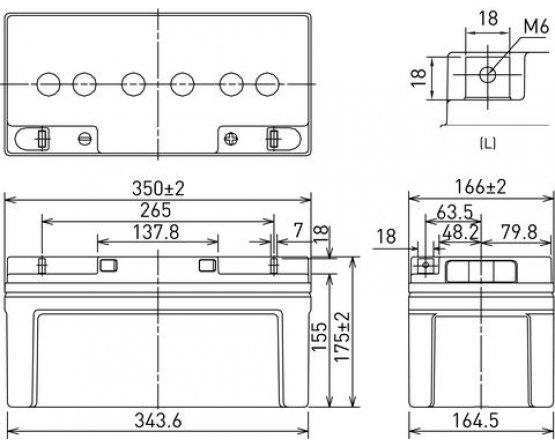 12V/65Ah Panasonic Blybatteri 10års LC-X1265P