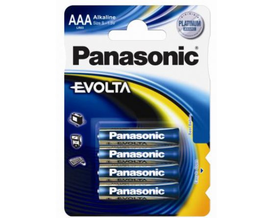 AAA/LR03 Panasonic Alkaline batteri Evolta