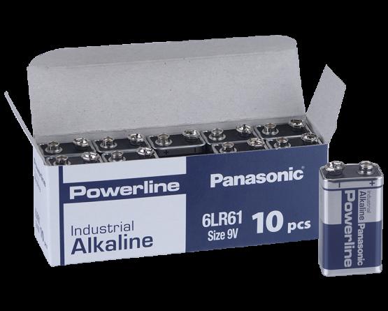 9Volt Powerline batteri/10 stk pr.æske