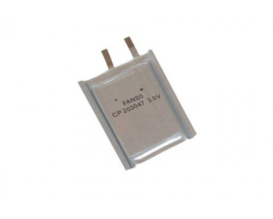 Fanso 3V lithium batteri 650mAh ultra tynd