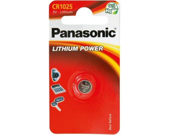 CR1025/1BP Lithium Knapcelle batteri Panasonic