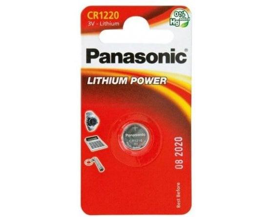 CR1220/1BP Lithium Knapcelle batteri Panasonic