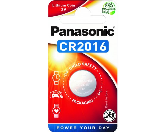 CR2016/1BP Lithium Knapcelle batteri Panasonic