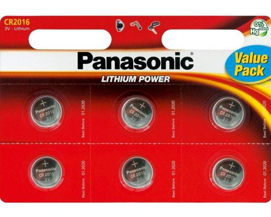 CR2016/6BP Lithium Knapcelle batteri Panasonic