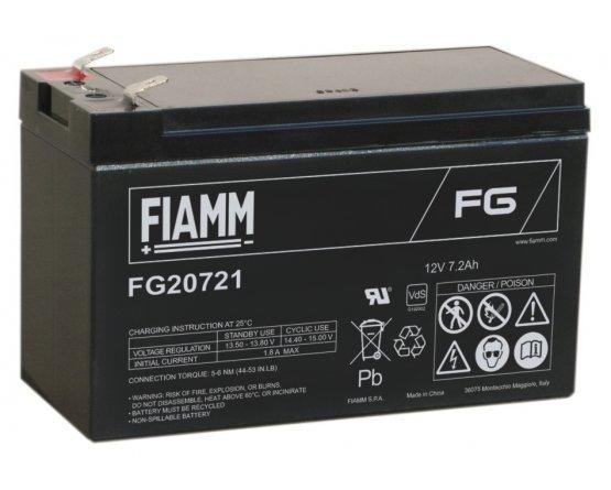 12V/7.2Ah FIAMM 5 års Blybatteri FG20721