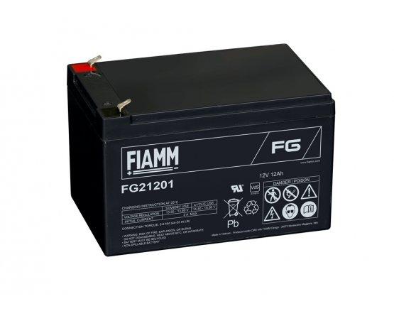 12V/12Ah FIAMM 5 års Blybatteri FG21201