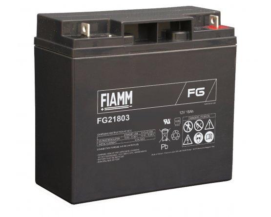 12V/18Ah FIAMM 5 års Blybatteri FG21803
