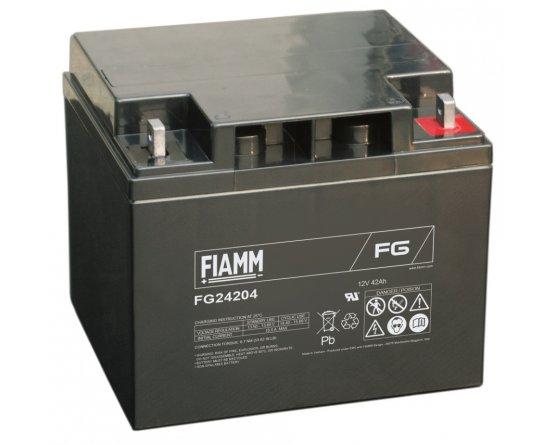 12V/42Ah FIAMM 5 års Blybatteri FG24204