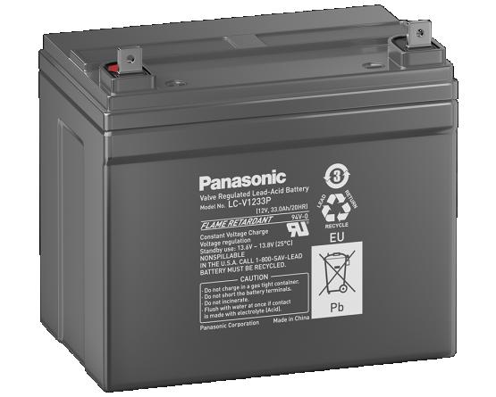 12V/33Ah Panasonic Blybatteri 6-9år LC-V1233P