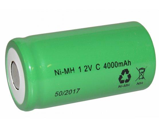 MH-C4000 NiMH genopladeligt D-batteri Flad top