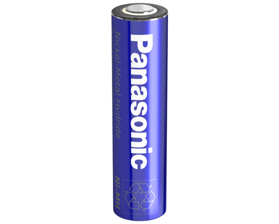 Panasonic NiMH A batteri Flad Top