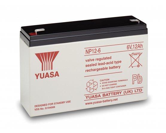 6V/12Ah Yuasa Blybatteri NP12-6