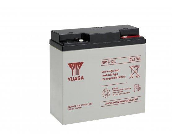 12V/17Ah Yuasa Blybatteri NP17-12I