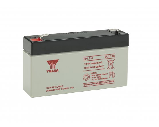 6V/1,2Ah Yuasa Blybatteri NP1.2-6
