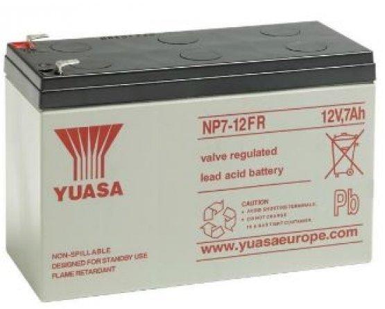 12V/7Ah Yuasa Blybatteri NP7-12FR