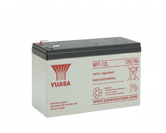 12V/7Ah Yuasa Blybatteri NP7-12(L)