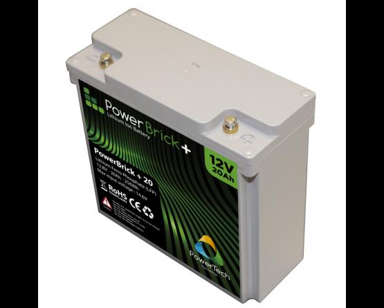 PowerBrick LiFePO4 batteri 12V/20Ah