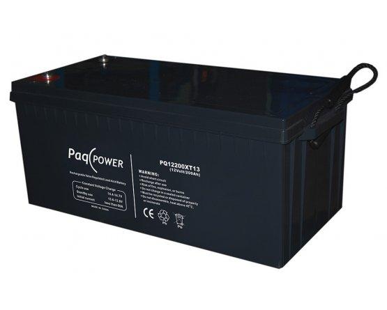12V/200Ah PaqPOWER Blybatteri 10 års T13 terminal