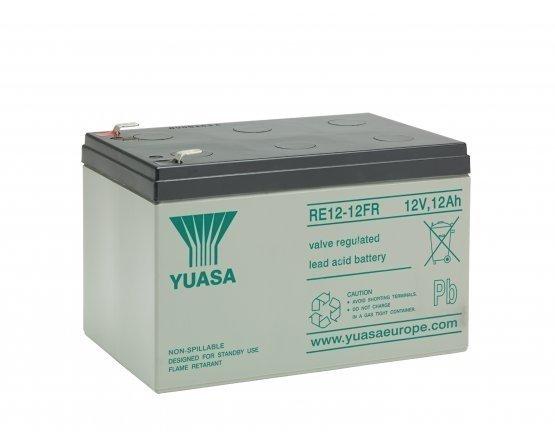 12V/12Ah Yuasa Blybatteri RE12-12FR
