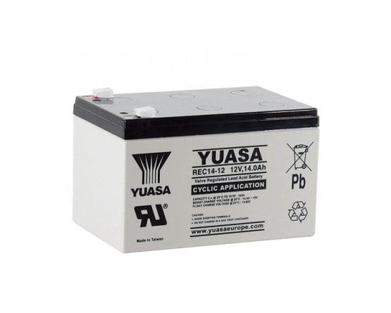 12V/13Ah Yuasa Blybatteri REC14-12
