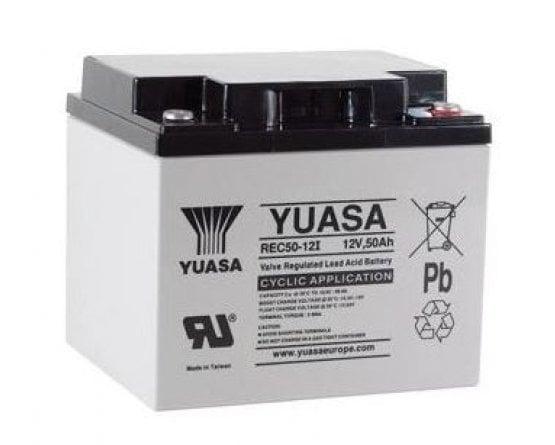 12V/50Ah Yuasa Blybatteri REC50-12I