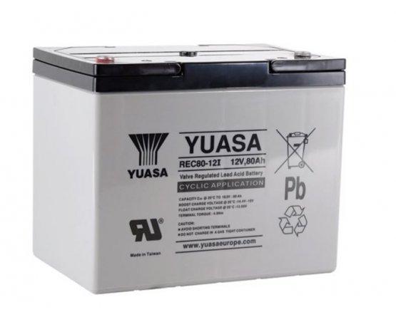 12V/80Ah Yuasa Blybatteri REC80-12I
