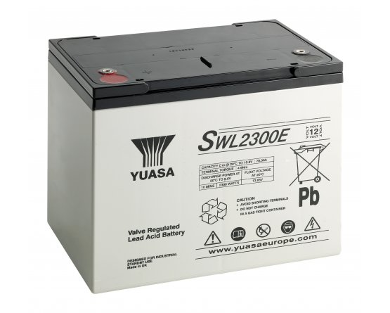 12V/80Ah Yuasa Blybatteri SWL2300EFR