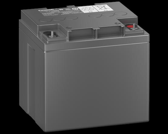 12V/38Ah Panasonic 10-12 års backup Blybatteri M5