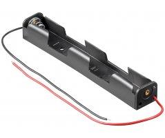 Batteriholder 2xAA med ledning