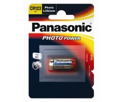 CR123A Lithium 3V foto batteri Panasonic