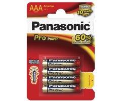 AAA/LR03 Pro Power Panasonic Alkaline 4-blisterpak