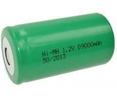 MH-D9000 Ni-MH D-batteri Flad top